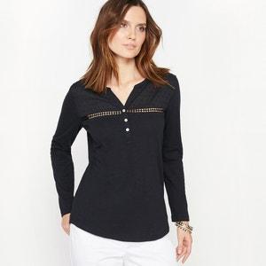 T-shirt pur coton flammé ANNE WEYBURN