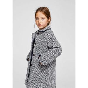 Manteau laine chevrons MANGO KIDS