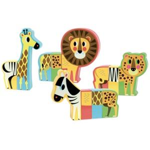 Set van 4 magnetische savanne dieren VILAC