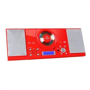 MC-120 Chaîne Hifi Stéréo Lecteur CD MP3 USB -rouge AUNA