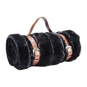 Plaid Fur Stripes fourrure noire 150x200cm Kare Design KARE DESIGN