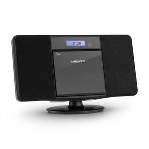 oneConcept V-13 BT Chaîne HiFi Stéréo Bluetooth lecteur CD MP3 USB radio -noir ONECONCEPT
