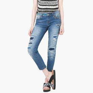 Boyfit jeans, verwassen en used DESIGUAL