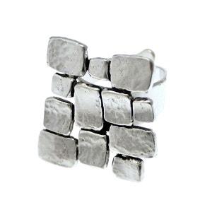 Bague réglable en métal argenté collection DEDALE LILI LA PIE