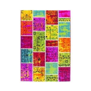 Tapis effet patchwork pour salon moderne multicolore Funky DELADECO