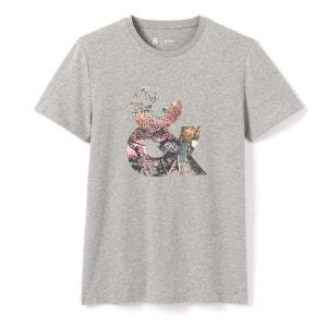 Tee shirt col rond imprimé, manches courtes La Redoute Collections