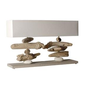 Grande lampe à poser en bois flotté Nao blanc COC ART