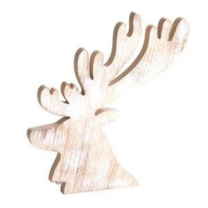 Tête de cerf en bois blanchi AUBRY GASPARD