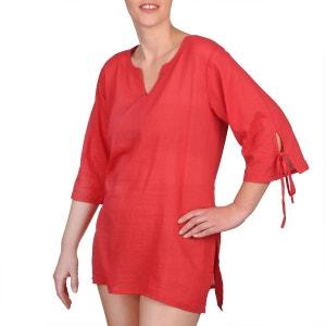 Blouse coton rouge BAISERS SALES