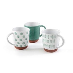 Feria Terracotta Mugs (Set of 3) La Redoute Interieurs