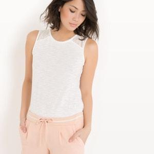 Camiseta sin mangas con pieza de encaje R édition