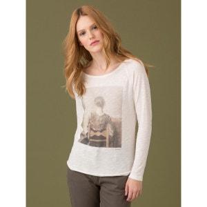T-shirt femme coton/modal, hommage à Hammershoi, IIKUMA SOMEWHERE