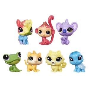 Tube de 7 figurines Littlest PetShop : Arc-en-ciel HASBRO