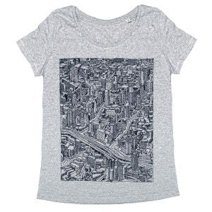 Tee-shirt femme en coton bio gris Citizen MONSIEUR POULET