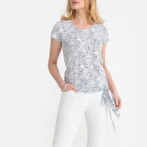 T-shirt katoen & modal, ronde hals