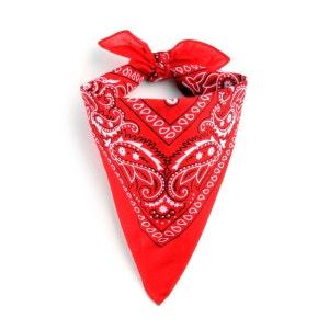 Foulard bandana rouge ALLEE DU FOULARD