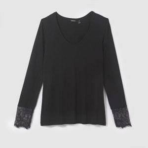 Lace V-Neck T-Shirt TOM TAILOR
