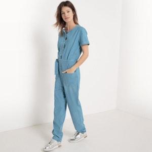 Combinaison pantalon denim, manches courtes R studio