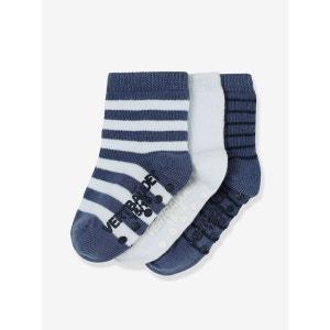 Lot de 3 paires de chaussettes bébé antidérapantes VERTBAUDET