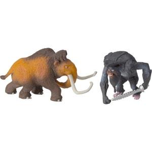 L'AGE DE GLACE 4  Pack 2 trading figurines 5 cm Manny et Captain Gutt DISNEY