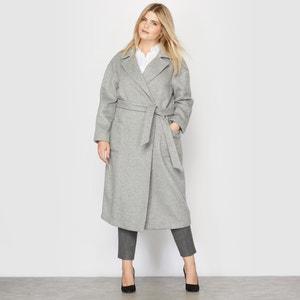 Lange jas, kamerjas stijl, 34 % wol CASTALUNA