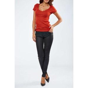 Jeans Salsa Wonder Skinny Noir Enduit Femme SALSA