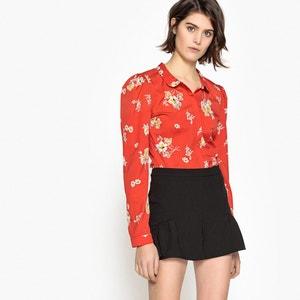 Hemd met bloemenprint en claudinekraag MADEMOISELLE R