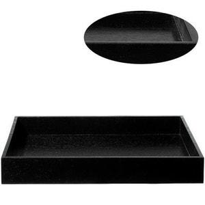 Grand plateau rectangulaire noir 52 x 35 cm Moa - bois ASA SELECTION