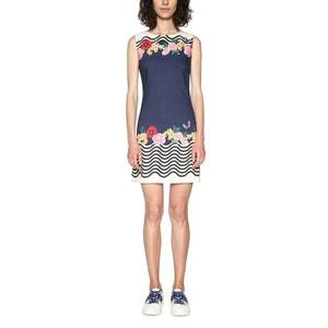 Kurzes Kleid, gestreift, ärmellos, gerade Form DESIGUAL