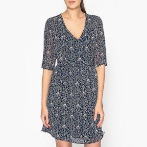 Bedrucktes Kleid, V-Ausschnitt FLORAISON GARANCE