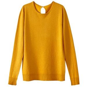 Пуловер из вискозы с прорезями для больших пальцев на рукавах La Redoute Collections