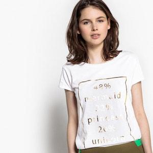 T-shirt lisa com gola redonda, mangas curtas BEST MOUNTAIN