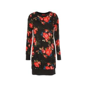 Sukienka w kwiaty, długi rękaw RENE DERHY
