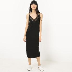 Kleid mit schmalen Trägern und Spitze SUNCOO