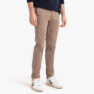Chino slim broek in stretch katoen