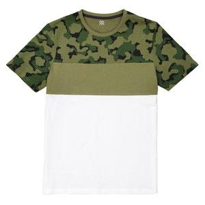 Bedrukt T-shirt met ronde hals Slub La Redoute Collections