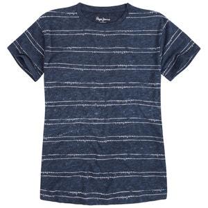 T-shirt com gola redonda, riscas PEPE JEANS