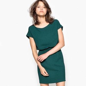 Robe longueur genou en polyester, manches courtes R essentiel