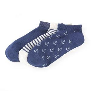Socquettes fantaisie en coton (lot de 3) R essentiel