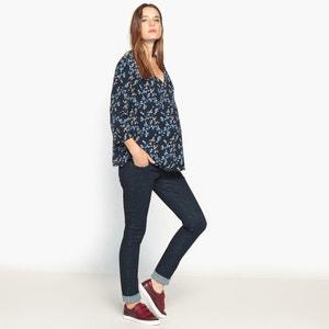 Bedrukte zwangerschaps blouse met V-hals, 3/4 mouwen La Redoute Collections