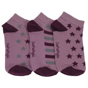 Socquettes coton bébé étoiles roses DesPasRayés