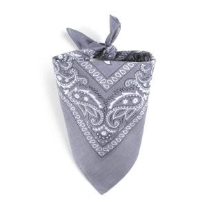 Foulard bandana gris ALLEE DU FOULARD