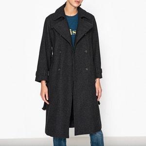 Clark Checked Wool Blend Trench Coat SOEUR