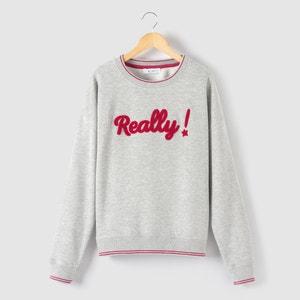 Sweater, verkort model, ''Really !'' 10-16 jr R pop
