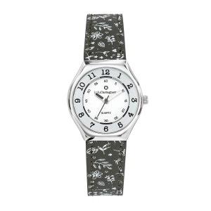 Montre fille Analogique Boitier métal bracelet cuir Mini Star LULU CASTAGNETTE
