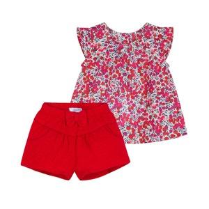 Conjunto de 2 prendas con blusa + short 3-18 meses