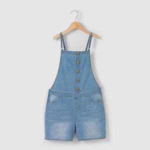 Salopette courte en jean léger 10-16 ans La Redoute Collections