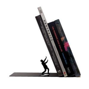 Serre-livres noir design defensive man artori design ARTORI DESIGN