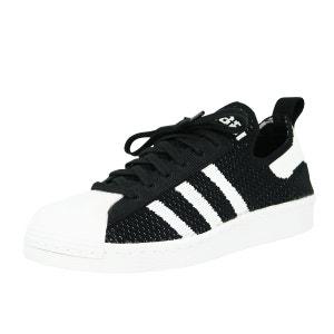 Adidas Originals SUPERSTAR 80S PRIMEKNIT W Chaussures Mode Sneakers Femme Noir Blanc adidas Originals