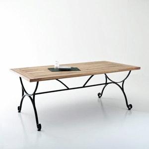 Table de jardin, acacia et fer forgé Féréol La Redoute Interieurs